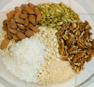 Combine Oats, Nuts and Seeds