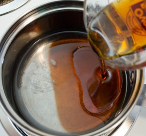 Melt Coconut Oil and Add Maple Syrup