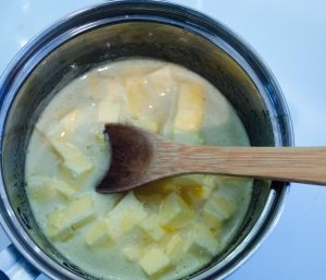 Making the Lime Curd