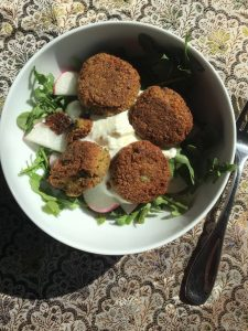 Falafel with Arugula