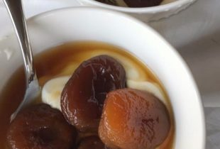 Apricots with Yogurt and Honey Orange Flower Syrup