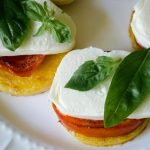 Polenta, Mozzarella, Tomato Sandwiches