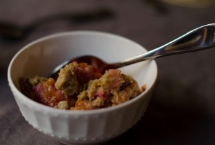 End of Summer Plum Crumble