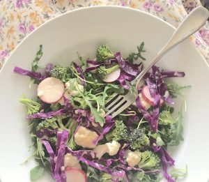 Anti-Cancer Salad with Zesty Lemon Dressing